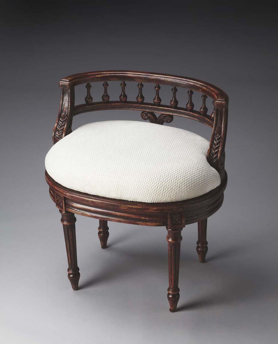Butler 1218227 Vanity Seat - Crackled Crimson
