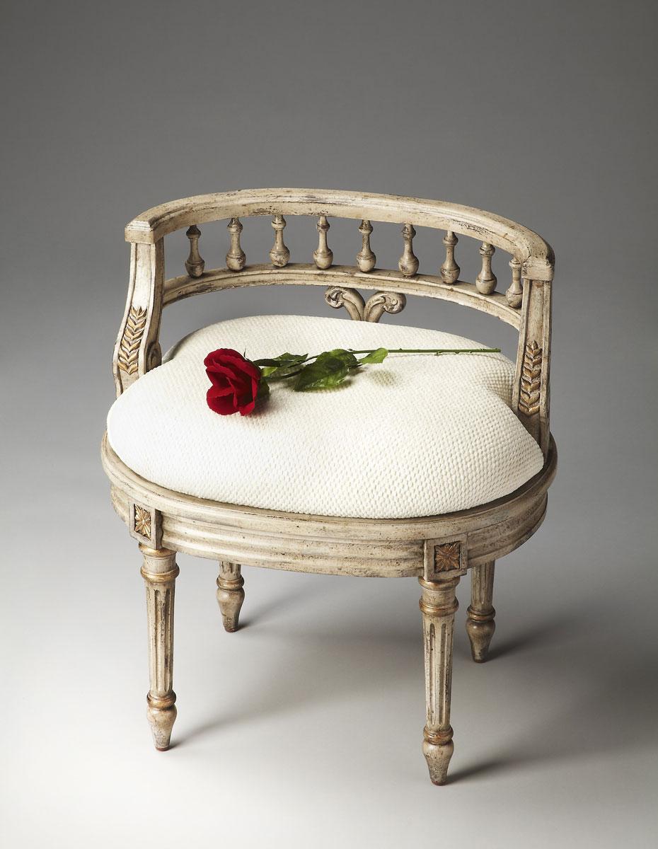 Butler 1218238 Vanity Seat - Guilded Cream