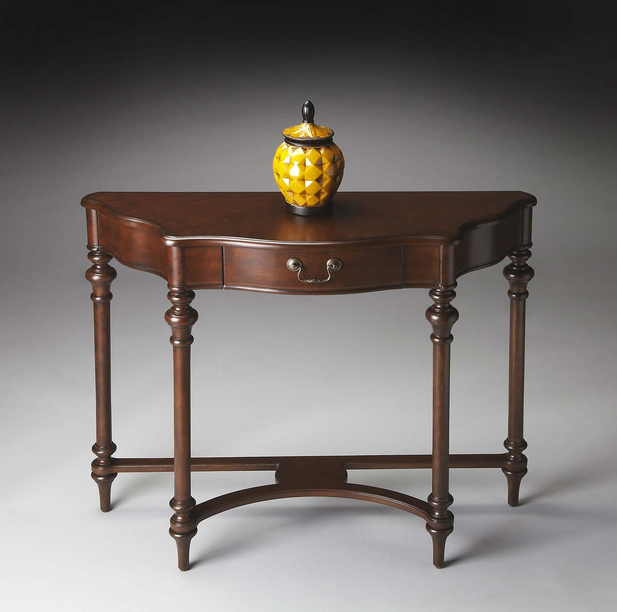 Butler 1263024 console table plantation cherry bt for Sofa table cherry