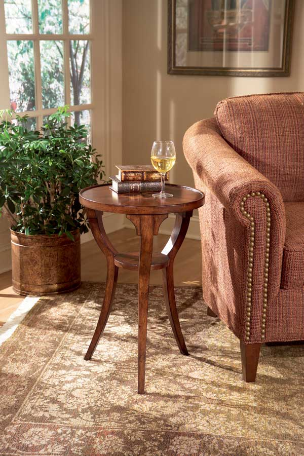 Cheap Butler Plantation Cherry  Round Accent Table