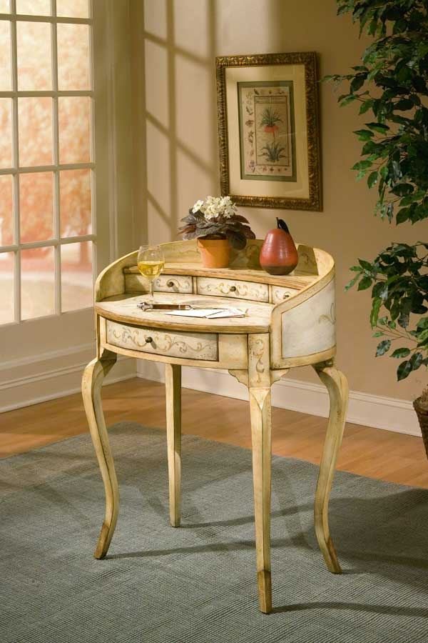 Butler 1335041 Tuscan Cream Hand Painted Ladies Writing Desk