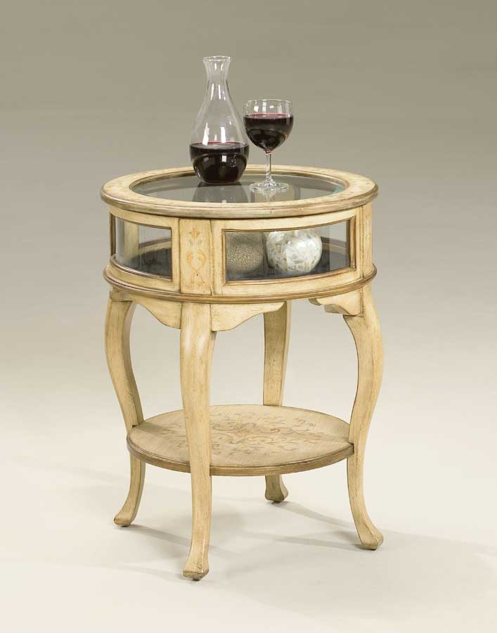 Butler Tuscan Cream Hand Painted Round Curio Table