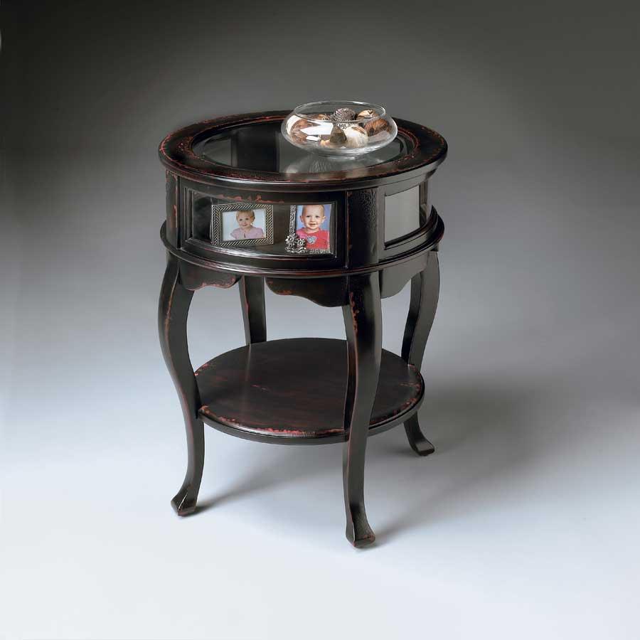 Cheap Butler Plum Black  Round Curio Table