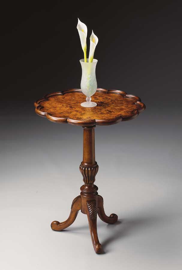 Butler 1482101 Olive Ash Burl Pedestal Table