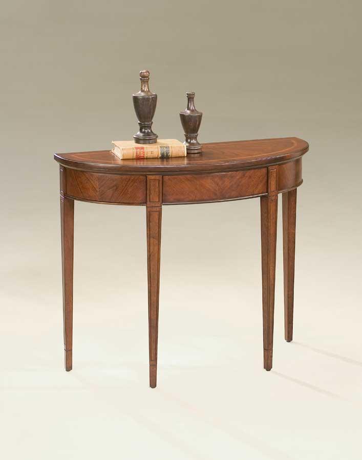 Cheap Butler Plantation Cherry  Demilune Console Table
