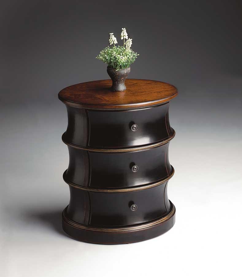 Butler 1588104 Cafe Noir Oval Drum Table