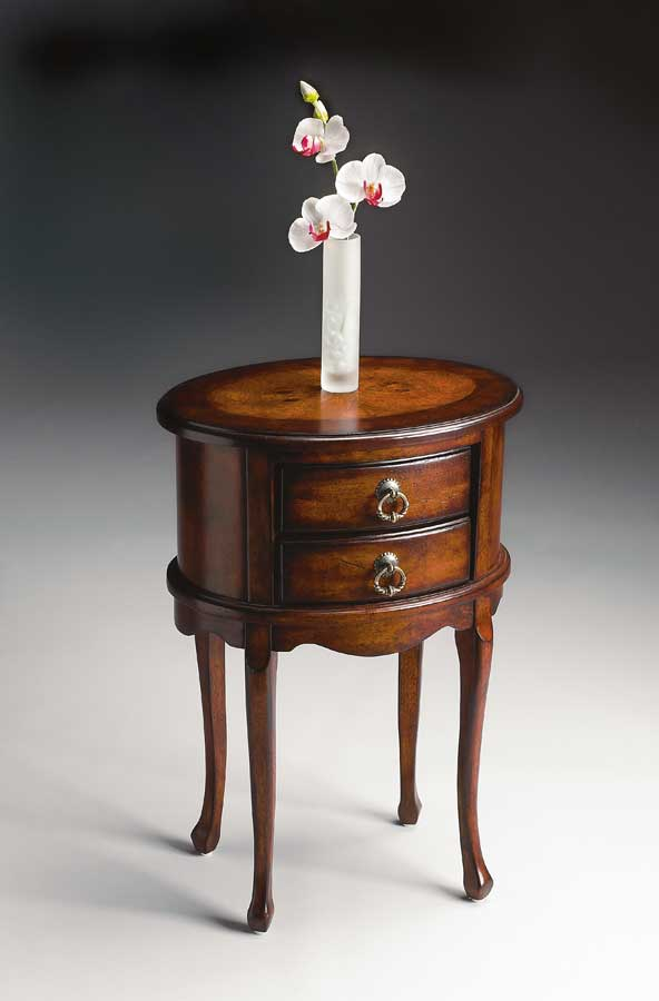 Butler 1589024 Plantation Cherry Oval Side Table