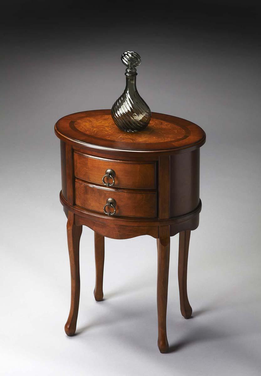Butler 1589101 Oval Side Table - Olive Ash Burl