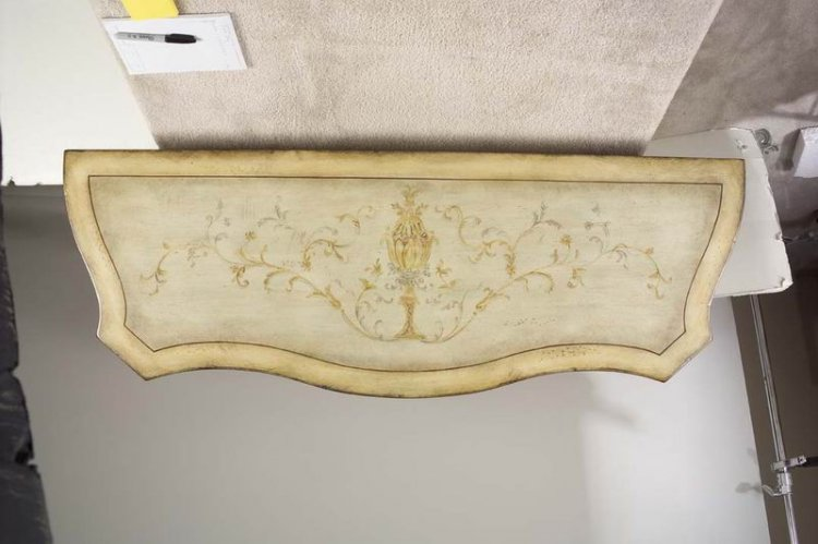 Butler Tuscan Cream Hand Painted Console Cabinet