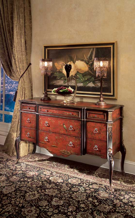 Butler 1602083 Imperial Red Hand Painted Console Cabinet
