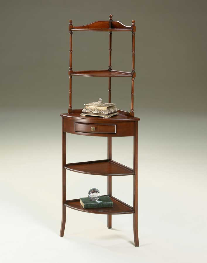 Cheap Butler Plantation Cherry  Corner Etagere