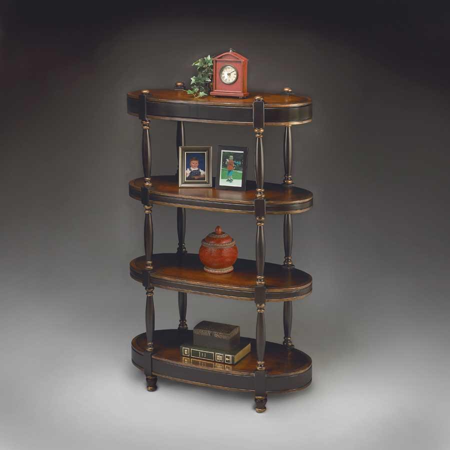 butler cafe noir oval etagere 1754104. Black Bedroom Furniture Sets. Home Design Ideas