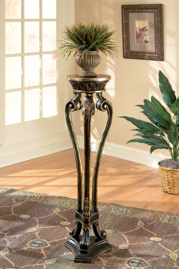 Cheap Butler Black with Gold Tipping Pedestal