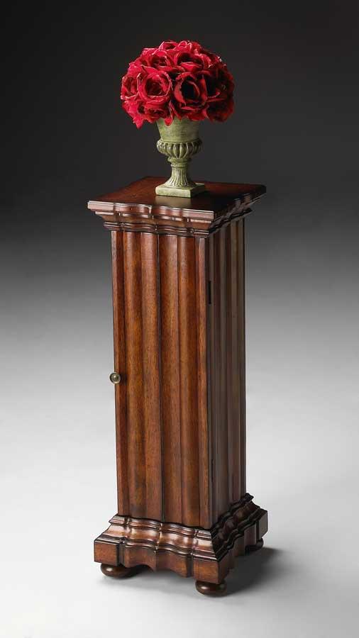Cheap Butler Plantation Cherry Pedestal Cabinet
