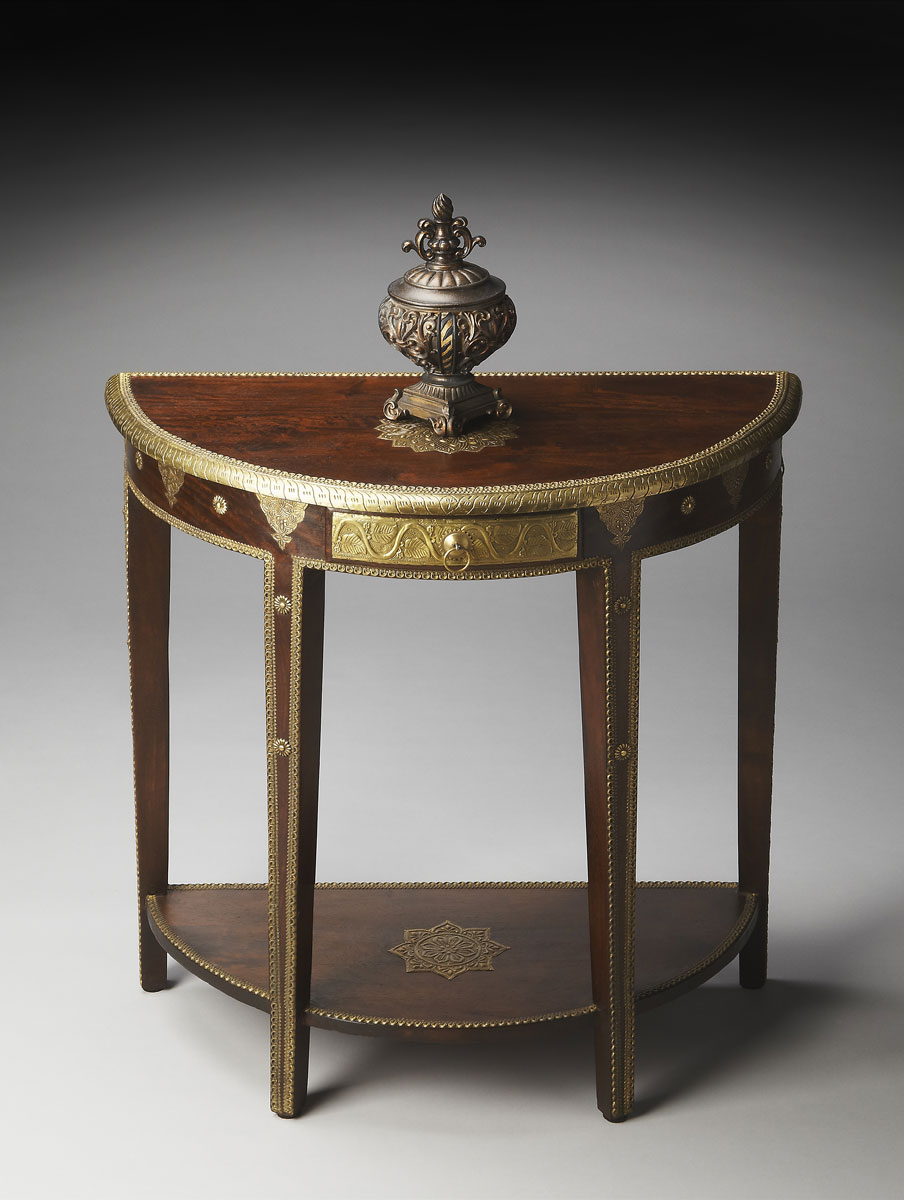 Butler 2054290 Demilune Console Table - Artifacts
