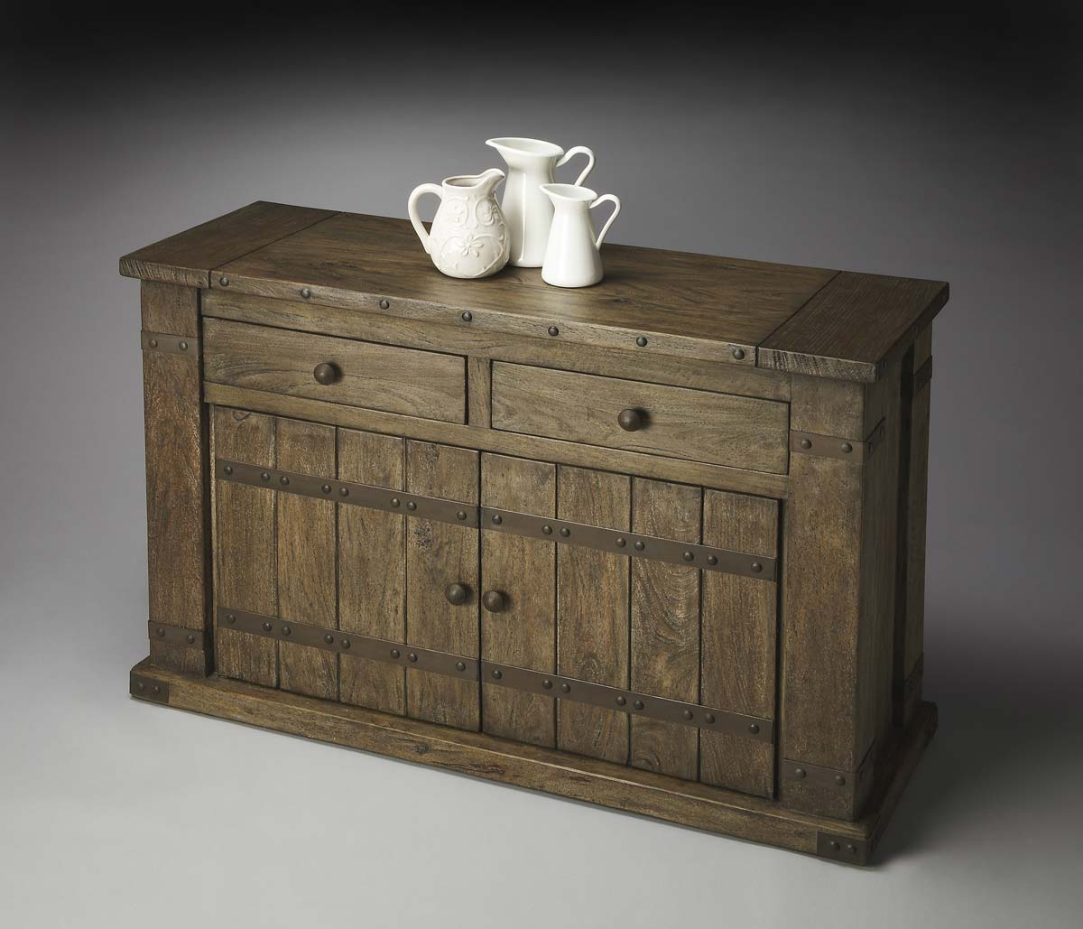 Money saving Butler Console Cabinet Mountain Lodge Product Photo