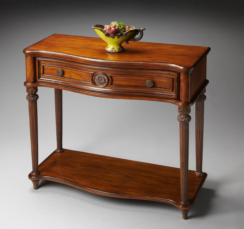 Butler vintage oak console table bt at
