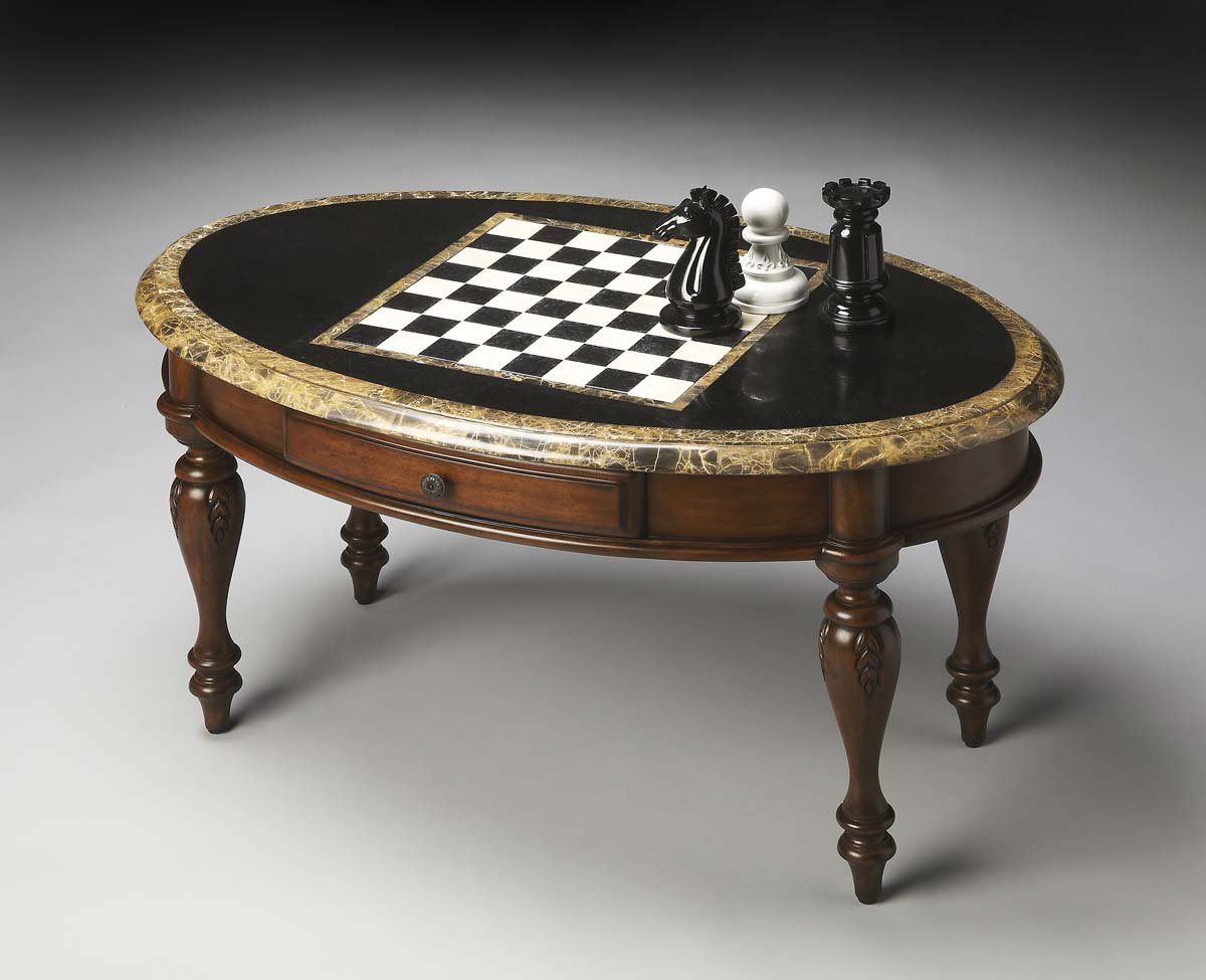Money saving Butler Cocktail Game Table Heritage Product Photo