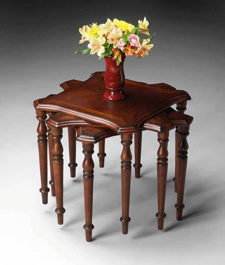 Cheap Butler Plantation Cherry Stacking Tables