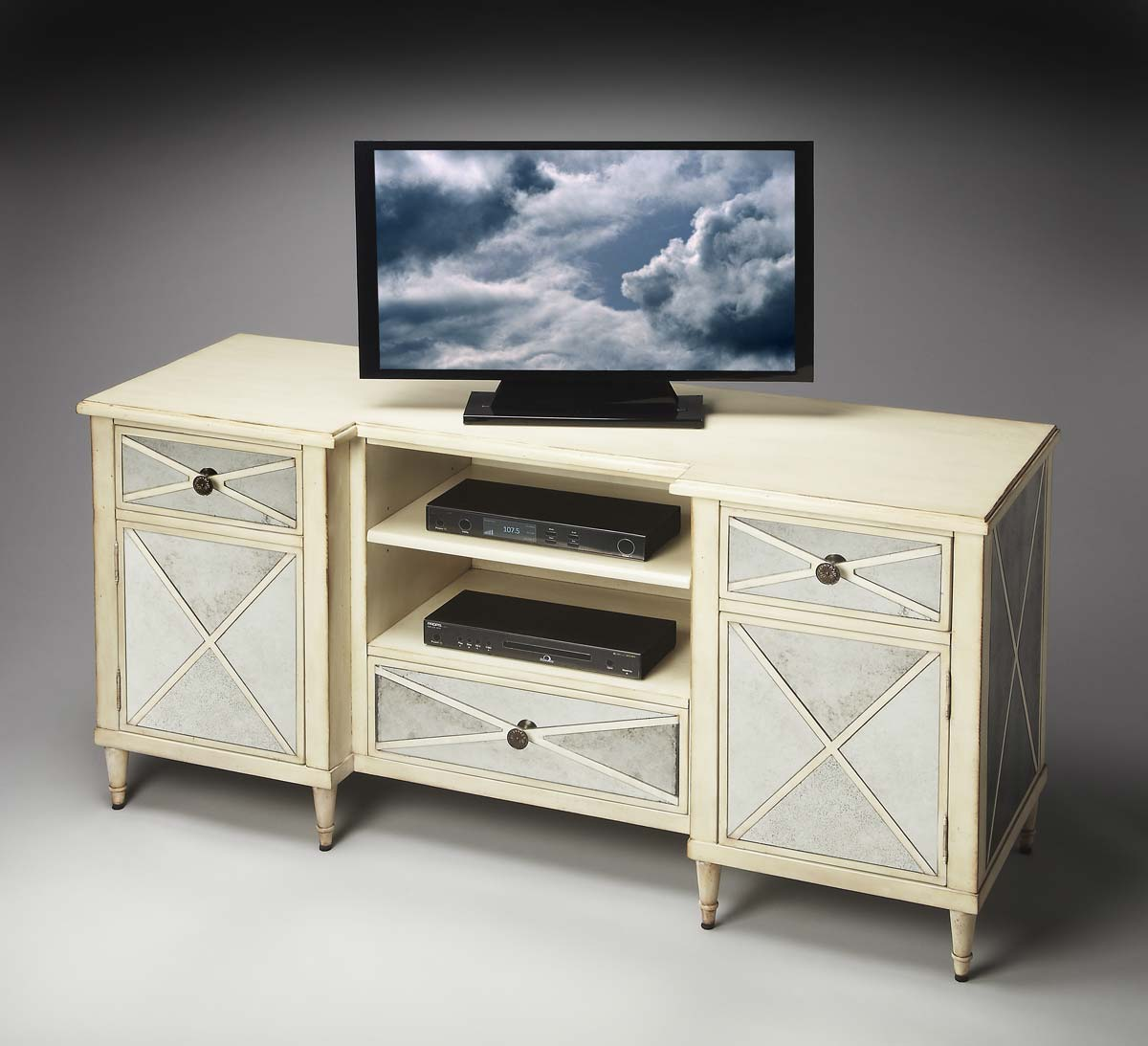 Mirrored Tv Console ~ Butler entertainment console mirror bt