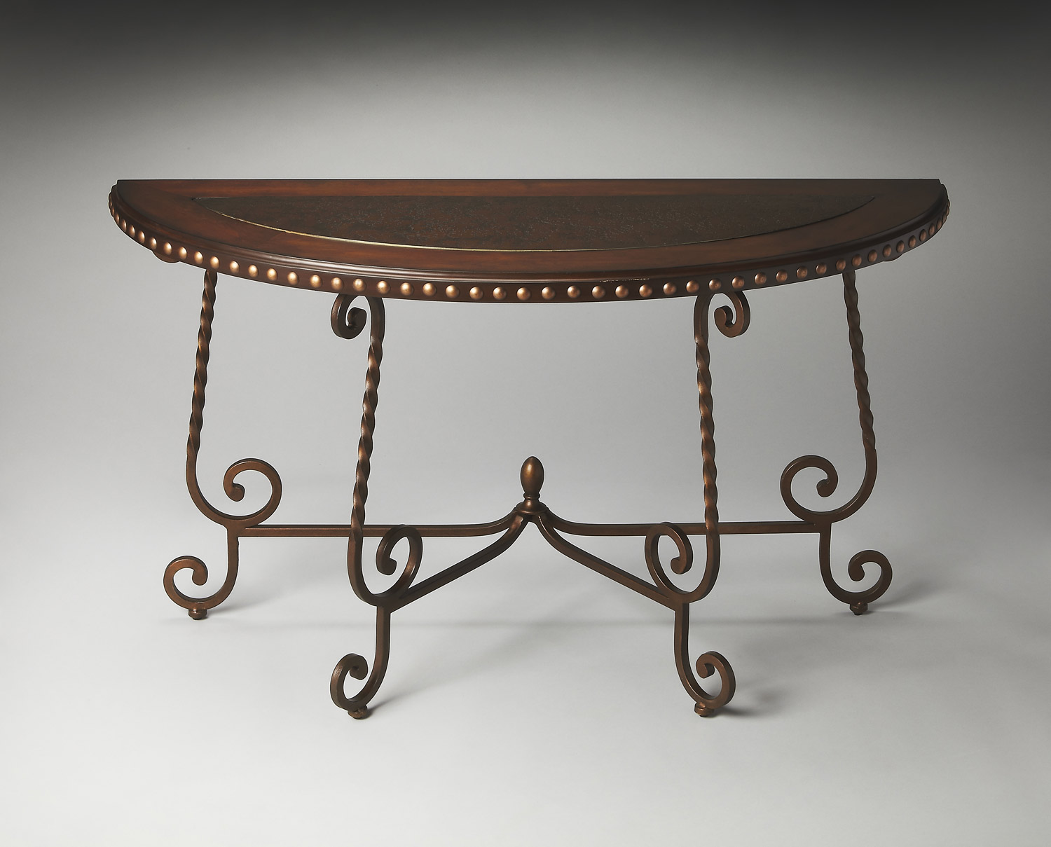 Butler 2692025 Metalworks Demilune Console Table