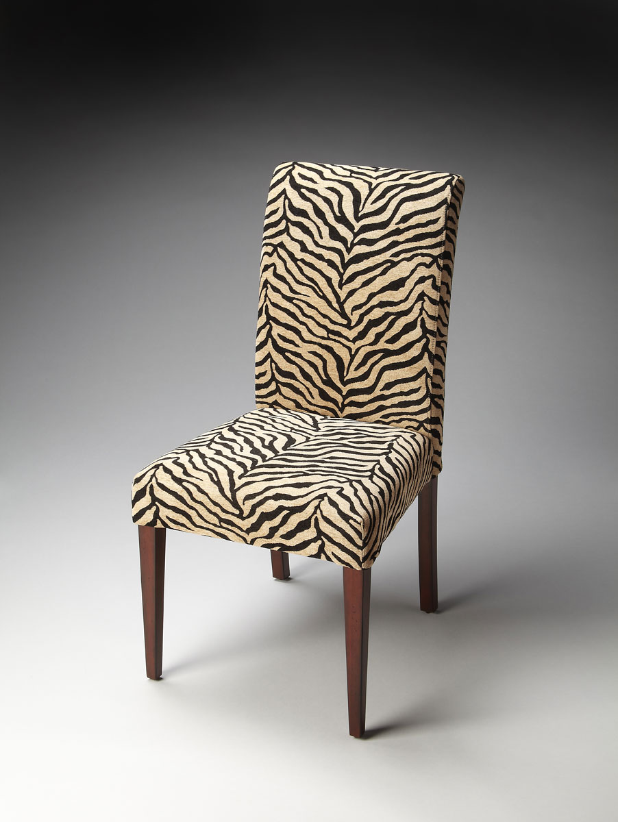 Butler 2956983 Parsons Chair - Zebra Print Fabric