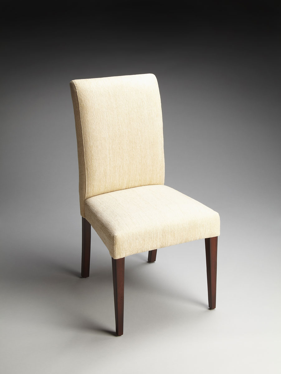 Butler 2956985 parsons chair ivory fabric bt 2956985 at for High back parsons chair