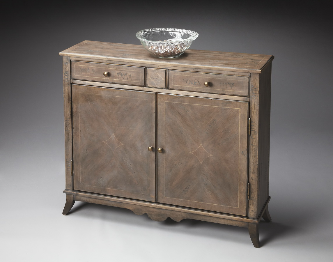 Butler 3019248 dusty trail console cabinet bt 3019248 at for A p furniture trail