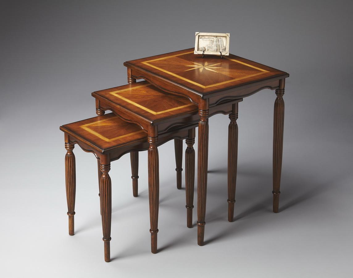 Butler 3021101 Olive Ash Burl Nest Of Tables