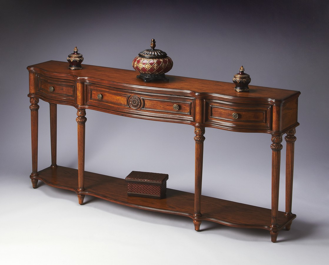 Console Table. Full resolution  photo, nominally Width 1118 Height 900 pixels, photo with #6F3E2B.
