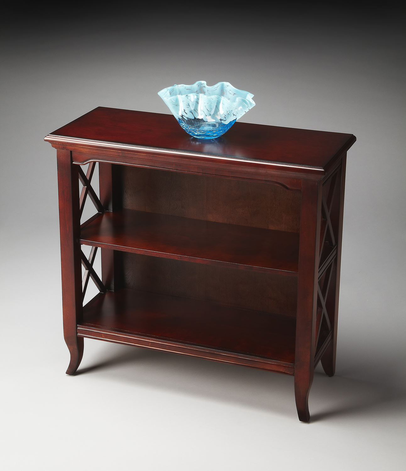 Butler 3044024 Plantation Cherry Low Bookcase Bt 3044024 At
