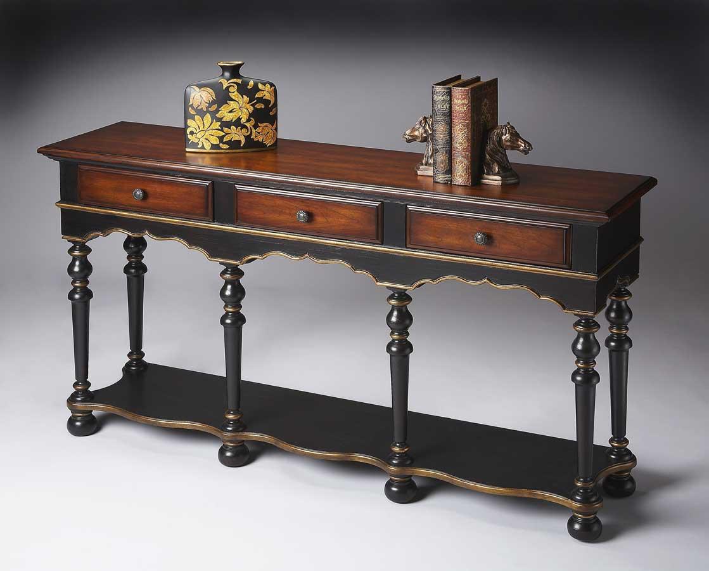 Butler 3046104 cafe noir console table 3046104 - Table console noire ...