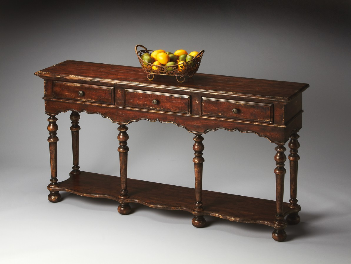 Butler 3046228 Tobacco Leaf Console Table Bt 3046228 At