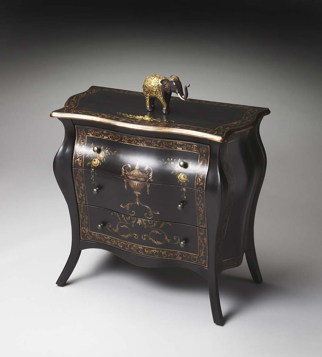 Butler Bombe Chest - Regal Black