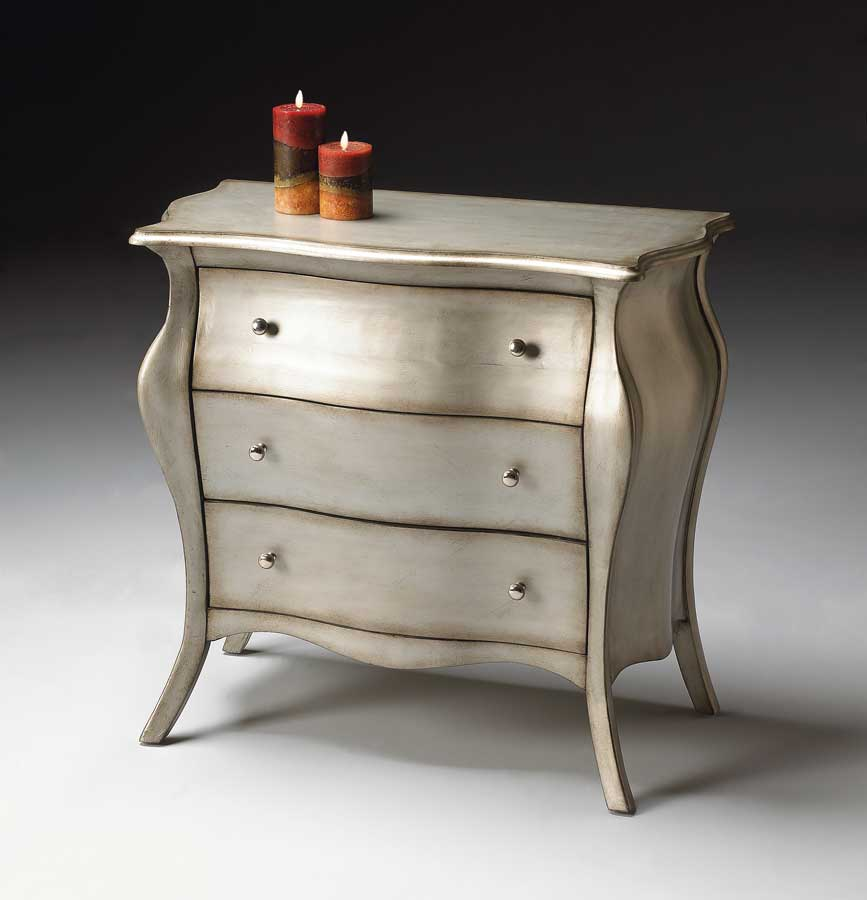 Butler 4006190 Brushed Pewter Bombe Chest