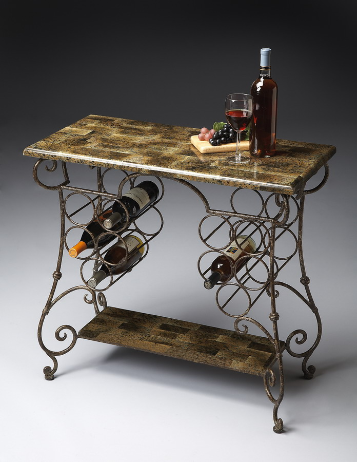 Photo of Butler 6069025 Metalworks Wine Console (Accent Furniture, Wine Accents)