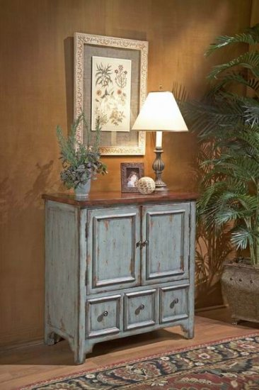Butler Barn Blue Hand Painted Chest