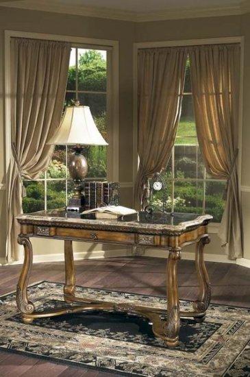 Butler Writing Desk Stationary Swivel Desk Chair