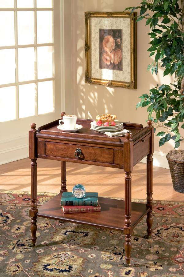 8005024 Plantation Cherry Serving Table - Butler