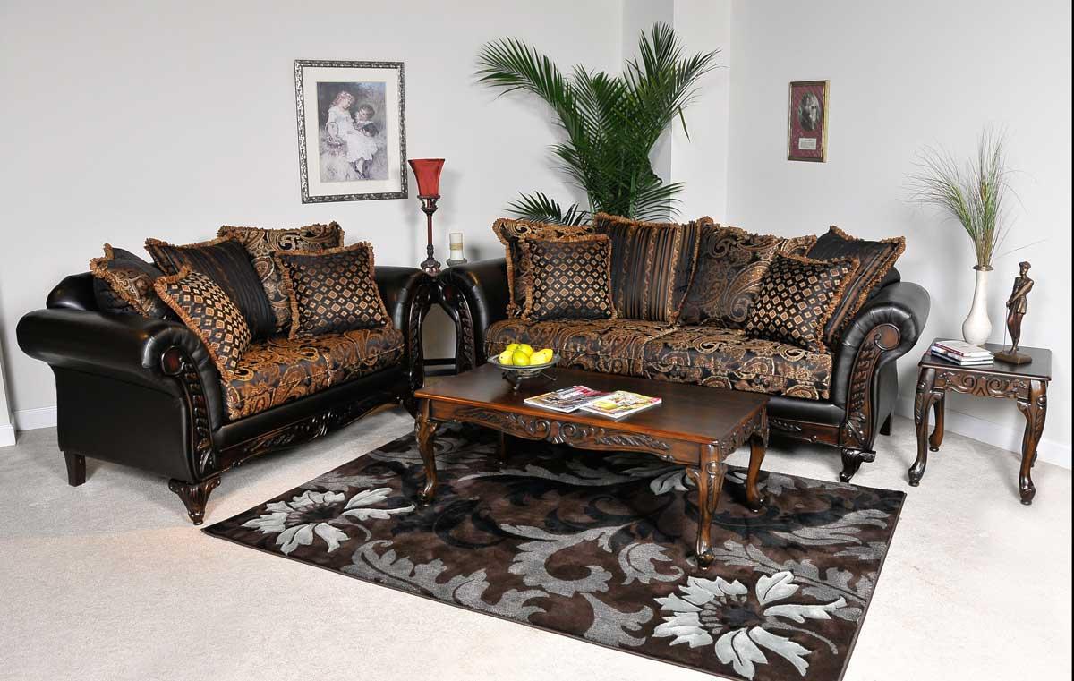 Delightful Benchmark Upholstery Elegant Sofa Set   Candytuft Storm