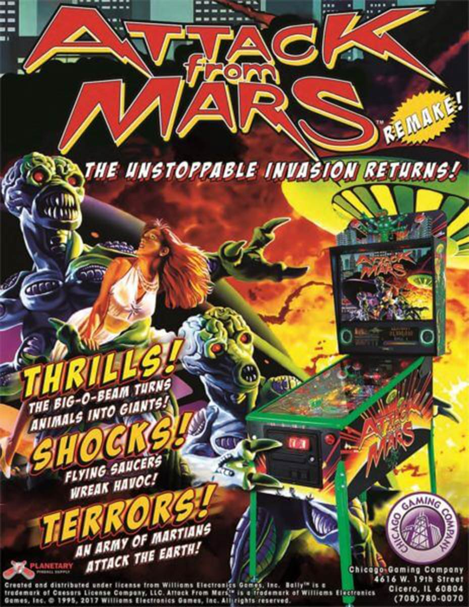 Ultimate Pinball Attack From Mars Remake Pinball Machine – Special Edition