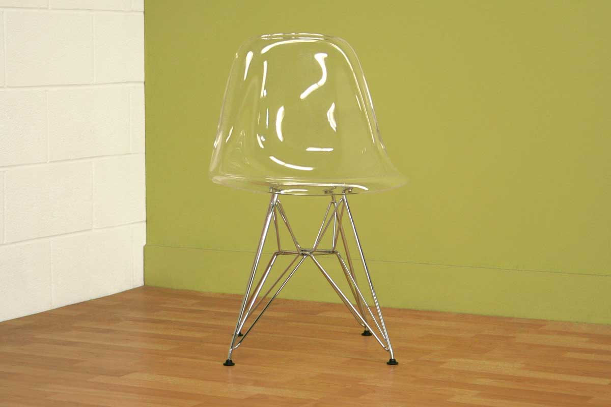 Wholesale Interiors Lexy Clear Accent Chair