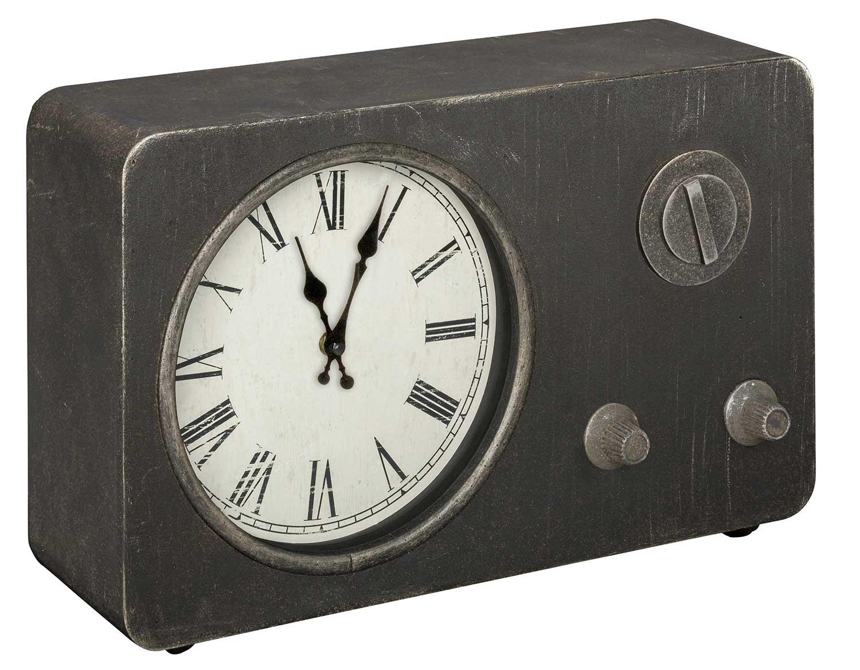 Cooper Classics Norman Table Clock - Gray