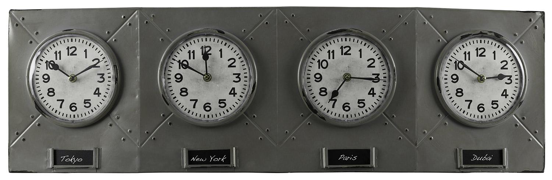 Cooper Classics Terminal Clock - Gray