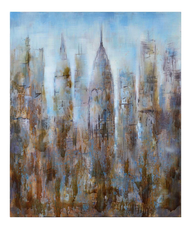 Cooper Classics Skyline Canvas Painting