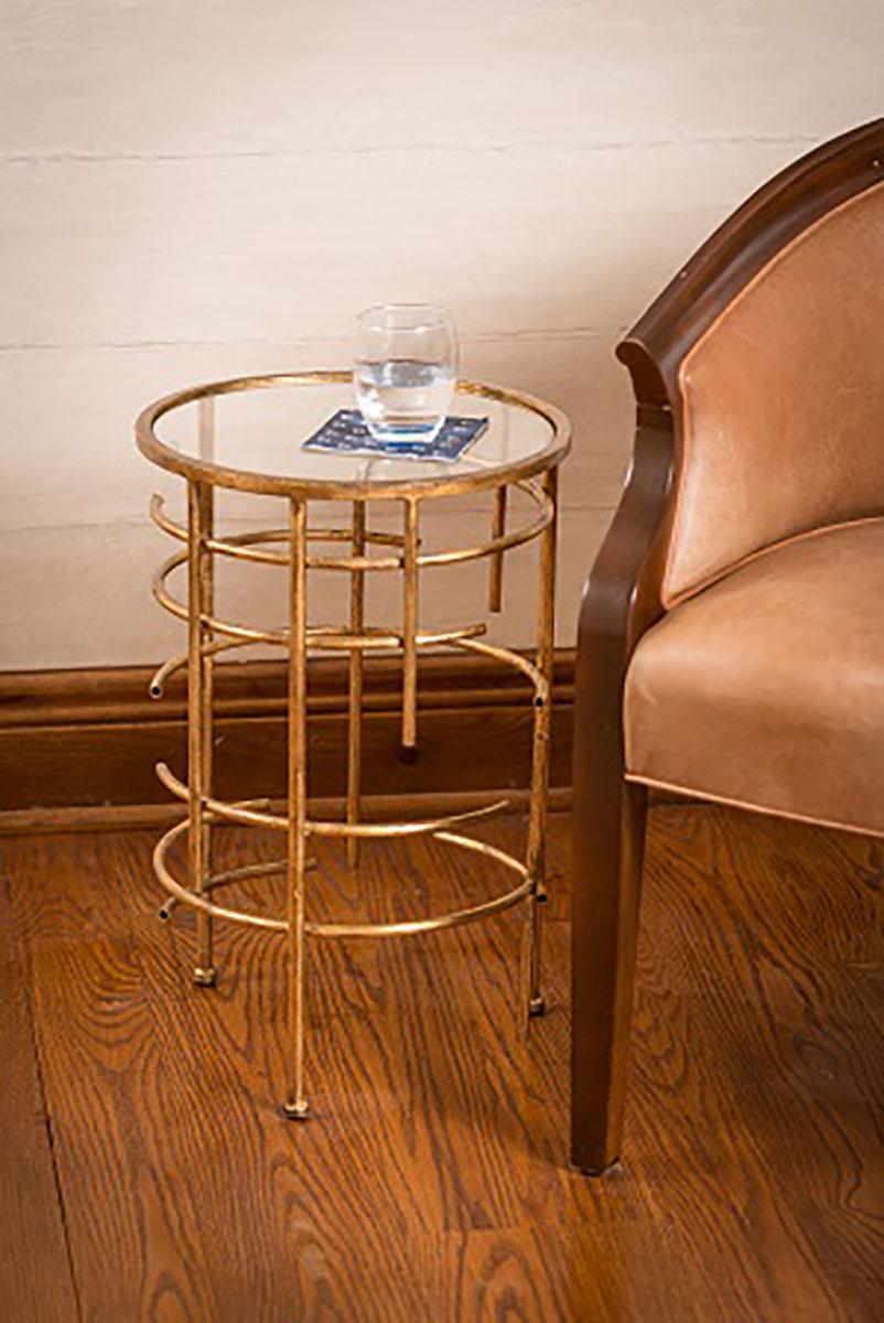 Cooper Classics Waldron Table - Antiqued Gold
