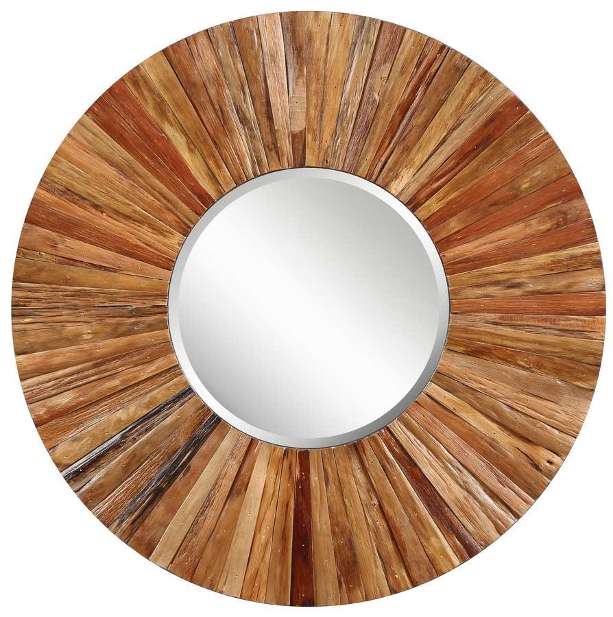 wood framed mirror reclaimed wood industrial style decorativ