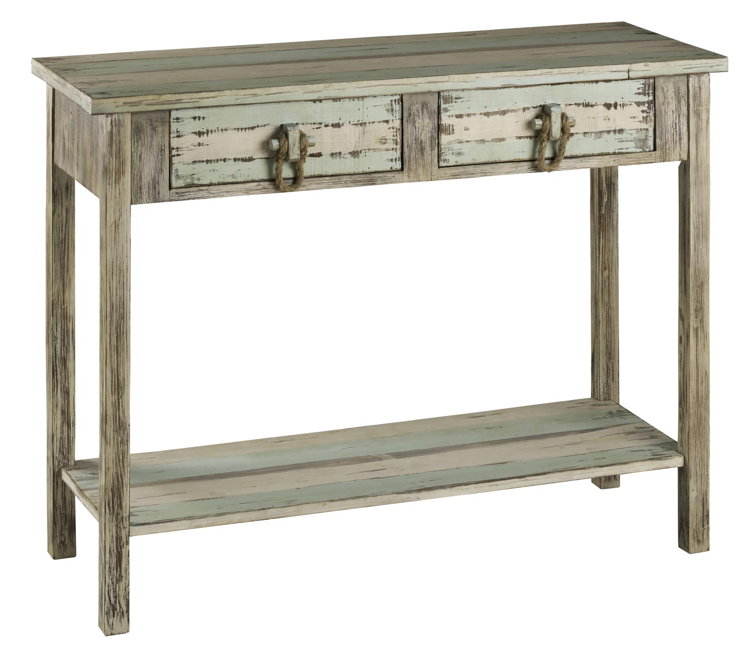 Beachy console table