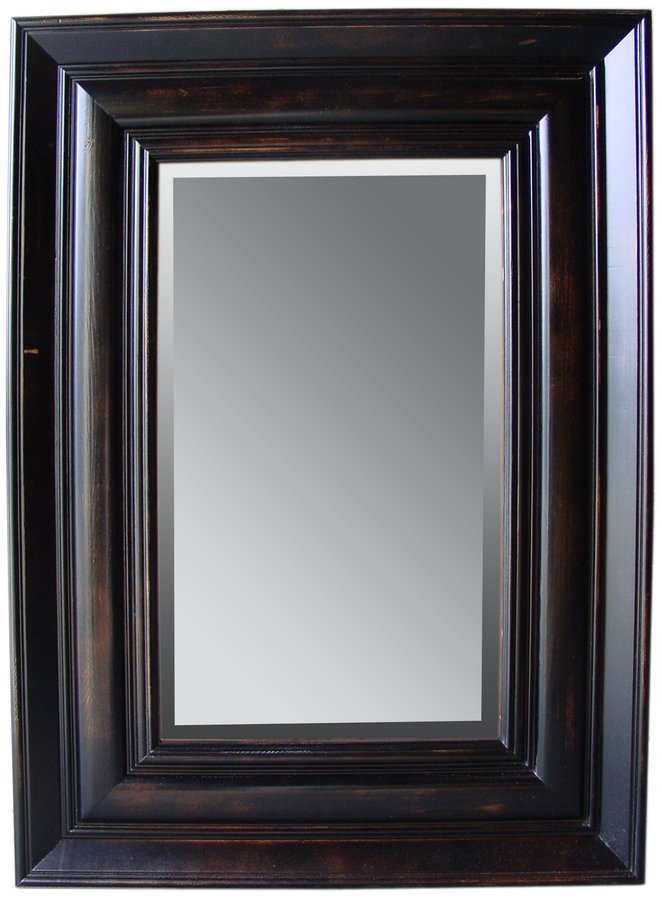 Cheap Cooper Classics Isabelle Pine Rectangle Mirror – Black