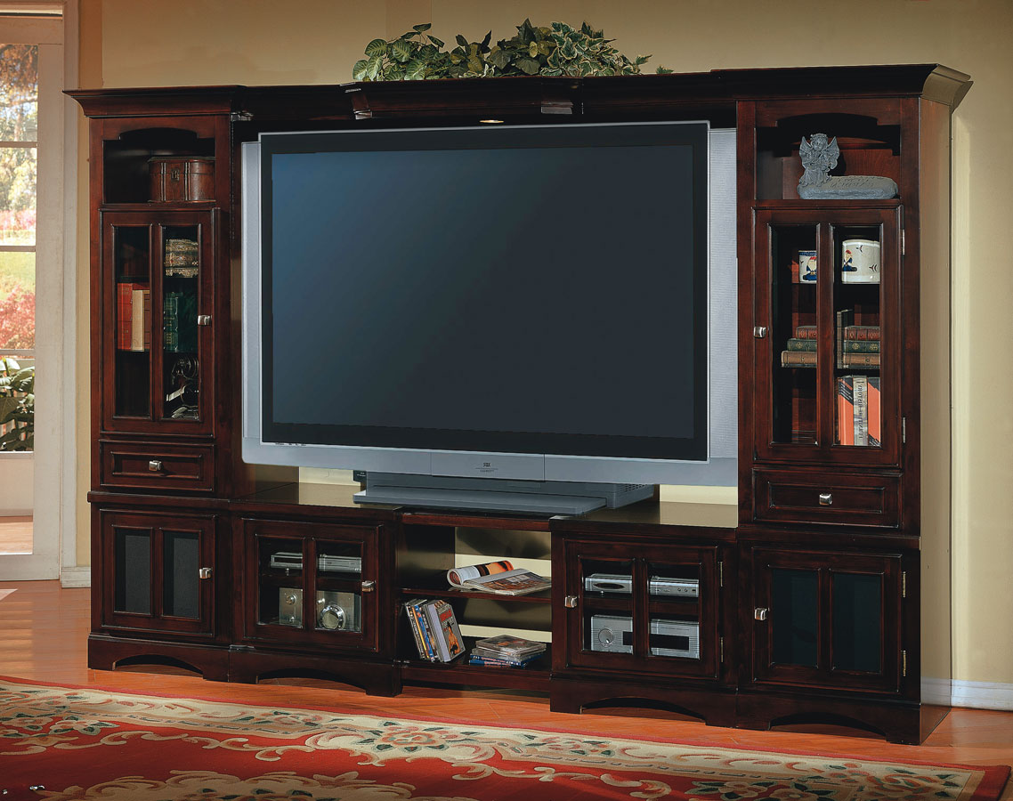 Cheap Parker House Cherry Hill 4 pc Entertainment Center